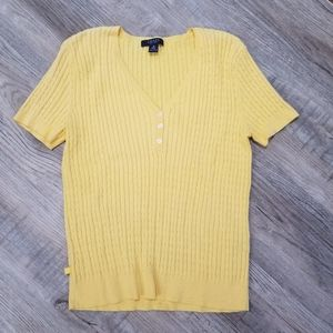 Chaps Short Sleeve Cable Knit Shirt